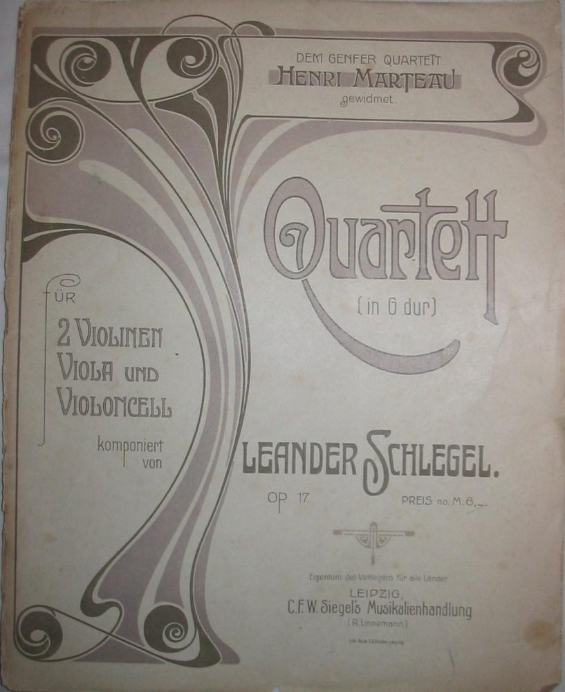 Strijkkwartet no.1 opus 17 (partijen)