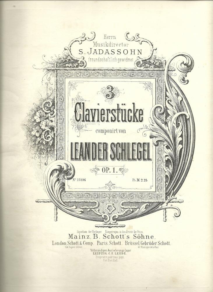 3 Clavierstücke opus 1