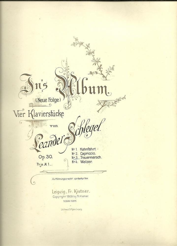 In's Album (Neue Folge) opus 30: no.3