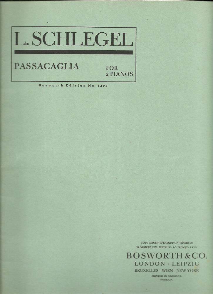 Passacaglia opus 31 (ed. Bosworth)