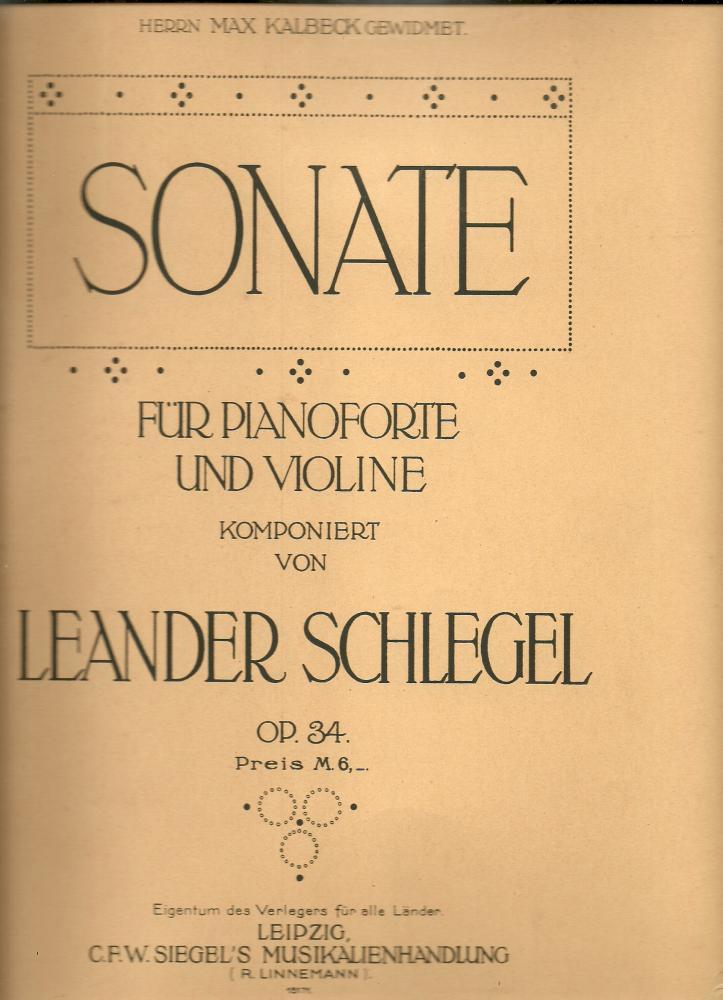 Sonate für Pianoforte und Violine opus 34