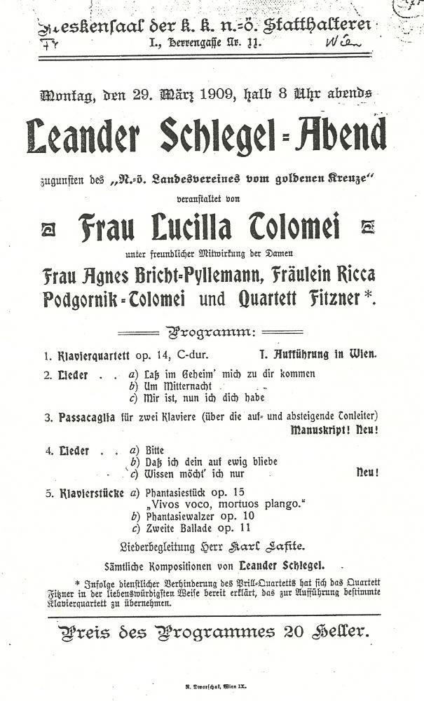 Wenen, 29 maart 1909
