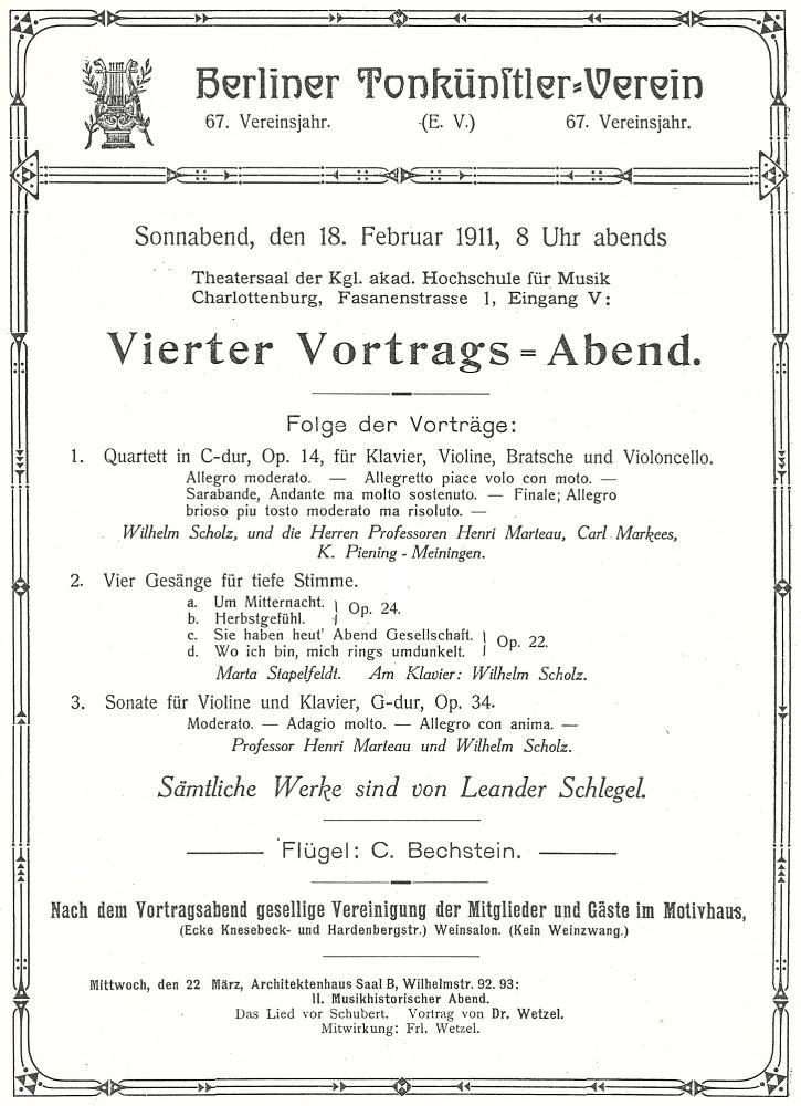 Berlijn, 18 februari 1911