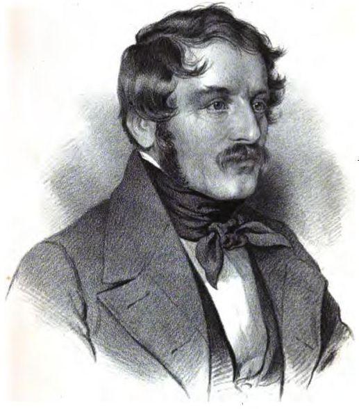 Nikolaus Lenau (1802-1850; 1847 door J.G. Bach, Leipzig)